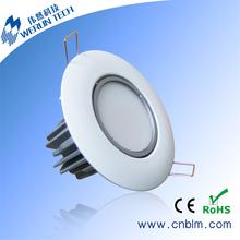 High brightness led downlight recessed adjustable
