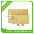 3-piece set com placa de corte de bambu faca