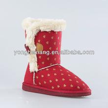 New / unique styles suede fabric snow kids/children boots wholesale