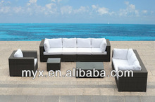 2014 All weather fashion cheap outdoor rattan garden sofa with cushion