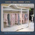 Custom design de moda roupa rack exposição da loja, pink lady roupas display rack