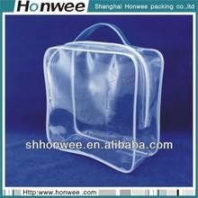 2014 fashional soft eva clear pouch custom zipper handle