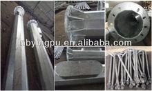 Q235 galvanized metal poles for lighting,lamp post manufacturers