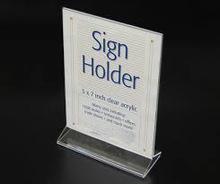 Customized acrylic sign holder/ acrylic picture frame