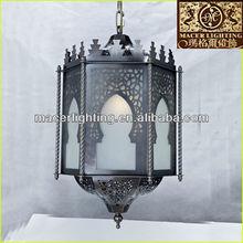 2014 new design indoor brass moroccan pendant lantern