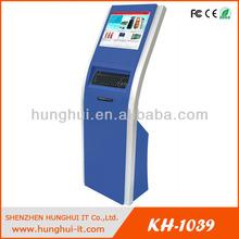 Free Standing Self service information kiosk / Interactive Bank Information Kiosk Terminal