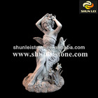 marble stone african woman sculptures