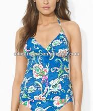 Women's Floral Halterkini Swimwear
