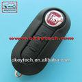 Okeytech tastaturabdeckung fiat 500 für fiat 3-tasten geändert flip remote-key-shell schwarz für shell-taste Fiat 500