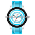 resistente al agua deporte personalizado de caucho de silicona banda de reloj reloj coss