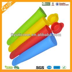 FDA Approved, 100% Food Grade Dishwasher Safe Non-stick Eco-friend 4 Pcs Silicone BPA Free Popsicle Jello Molds