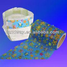 2015 heißer verkauf mit bunten frontal band für baby-windel
