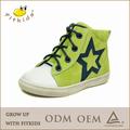 lucky star couro camurça crianças maçã verde sapatos