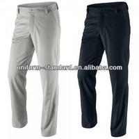 spandex men trousers/pants woven casual Golf men 98%cotton 2%spandex