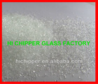 Swimming pool filter media recycled clear glass chips