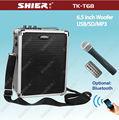Recargable portátil inalámbrico amplificador de voz con el puerto usb shier tk-t6b