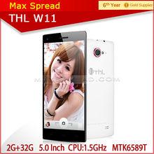 5.0 inch FHD 100% Original THL W11 MT6589T 1.5Ghz quad core CPU 1920*1080 smart handphone