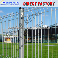 Cheap Welded Wire Mesh Fence With Triangle Bends And Round Post