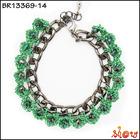 Fancy handmade rhinestone diy korea fashion bracelet