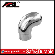 Hot sale stainless steel handrail /curtain rod/ steel dome end cap