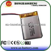 factory supply 103040 lipo 3.7v 1200mah battery