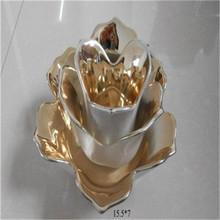hot golden lotus votive tealight candle holder