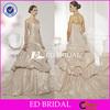 XL899 strapless a line luxury taffeta 2014 retail champagne colored wedding dresses