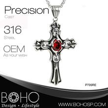 jewelry making sideways cross / stainless steel jewelry making crosses pendant