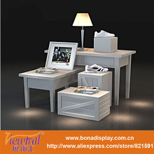 high and low display stand for fashion store window display furniture