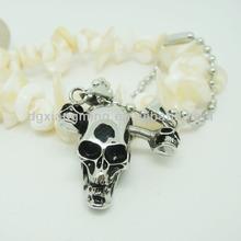 Skull Bone Stainless Steel Pendant For Men Hip Hop Style