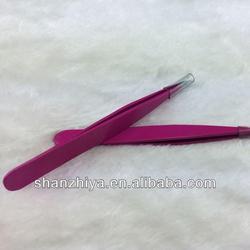 Professional beauty pink eyebrow tweezer