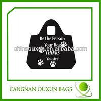 hot style eco-friendly foldable black nylon tote bag
