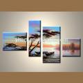 Venta al por mayor hechos a mano de áfrica pinturas fotos en la lona