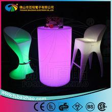 Barra de mesa y sillas& led de barras portátil& comercial barra de tabla del led