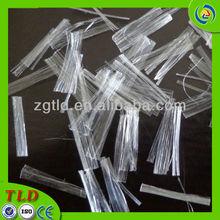 short-cut mesh fiber PP mesh fiber asphalt additive fiber PP split concrete fiber pp mesh fiber