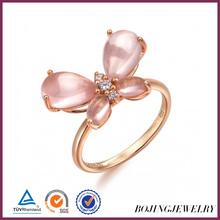 cute rings design fashion pink diamond ring female finger rings