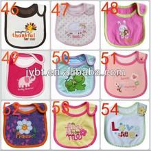 3 layers Baby Bibs,organic cotton material, warerproof baby bibs