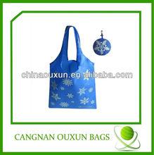 hot style eco-friendly nylon ball foldable shopping bag