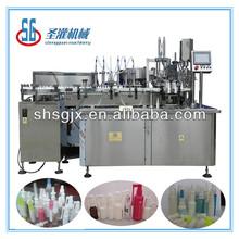 SGPWX- automatic plastic bottle ,glass bottle perfume spray filling capping machine