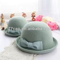 2014 New Fashion Woolen Church Ladies Bowler Hat Pattern For Sale