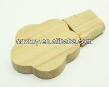 Stylish OEM logo wooden flower usb drive, Toshiba chip flowerwooden usb flash 2gb, 4gb, 8gb,16gb cheapest price usb memory stick