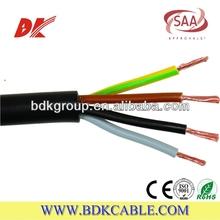 Multi core flexible cable 4 core 10mm pvc cable 1.5~120mm2 300/500V