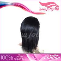 top quality no shedding Human hair short bob lace front wig
