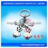 Promotion creative idea custom printing plastic rabbit foot key chain