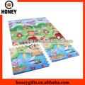 Stampa schiuma stuoia di puzzle/bambino puzzle mat/rotoli in su stuoia di puzzle