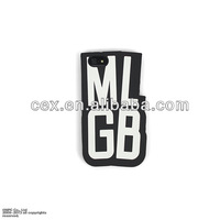 New Arrival Personality 3D Letter MLGB Camouflage Silicone Back Case Protector For Apple iPhone 5 5s