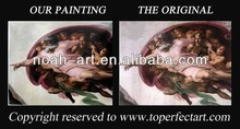 Painting over old oil paintings of Leonardo Da Vinci