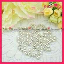 Fashion wholesale high end flower iron on appliques WRA-018