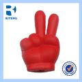 2014 mais popular de grande ok gesto vermelho de plástico de brinquedos de carnaval