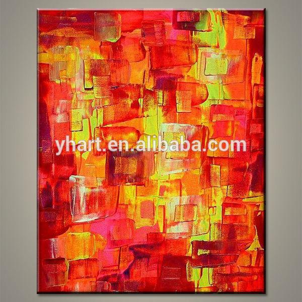 الجملة الملونة مادة مجردة قماش اللوحة الفنية البسيطة